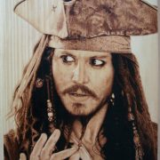 pirate pyrography art work