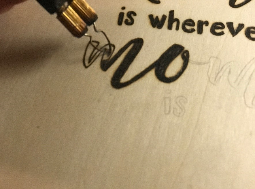 wood burning of quote with TRUArt 60W pyrography pen TRUArt Mothers' day