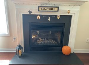 Fall Décor Garland fireplace